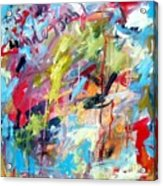 Abstract with Drips and Splashes Acrylic Print