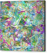 ract with Shapes and Squiggles Acrylic Print