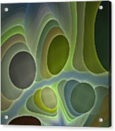 Abstract With Stars Acrylic Print
