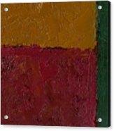 Abstract Xv Green Buffer Acrylic Print