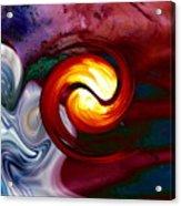 Abstract Yin Yang Lava Acrylic Print