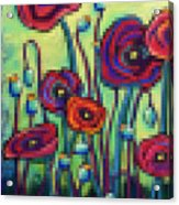 Abstracted Poppies Acrylic Print