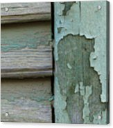 Abstraction In Peeling Paint Close-up Acrylic Print