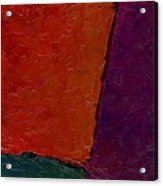 Abstraction Xv Orange Crush Acrylic Print