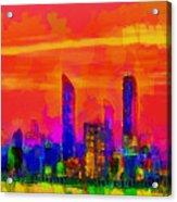 Abu Dhabi Skyline - Da Acrylic Print