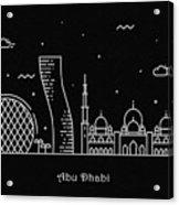 Abu Dhabi Skyline Travel Poster Acrylic Print