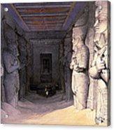 Abu Simbel Temple, 1838 Acrylic Print
