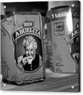 Abuelita Bw  Acrylic Print