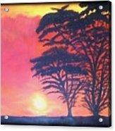 Acacias At Masai Mara Acrylic Print