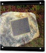 Acadia National Park Centennial Plaque Acrylic Print