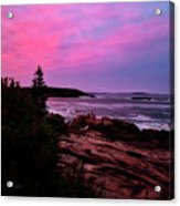 Acadia National Park Sunset Acrylic Print