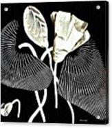 Accordion Leaf Flowers Acrylic Print