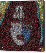Ace Frehley Poker Chip Mosaic Acrylic Print
