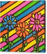 Aceo Abstract Flowers Acrylic Print