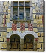 Achitecture Of The Little Castle Within Cesky Krumlov In The Czech Republic Acrylic Print