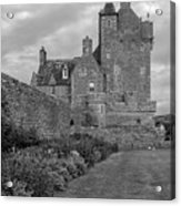 Ackergill Tower 1173 Bw  Acrylic Print