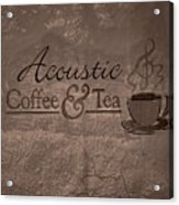 Acoustic Coffee And Tea Signage - 3w Acrylic Print