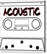 Acoustic Music Tape Cassette Acrylic Print