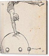 Acrobat On Robot Acrylic Print