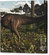 Acrocanthosaurus Dinosaur Roaming Acrylic Print