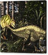 Acrocanthosaurus Hunting Tenontosaurus Acrylic Print