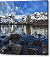 Across Jenny Lake Acrylic Print