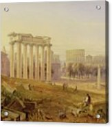 Across The Forum - Rome Acrylic Print by Hugh William Williams