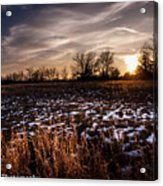Across The Frozen Fields  Acrylic Print