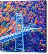 Across The Other Side Of Bear Mountain Bridge Acrylic Print