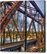 Across The Water 6th Street Rr Bridge Augusta Georgia Art Acrylic Print