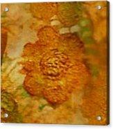 Acryl Painting Goldflowers Acrylic Print