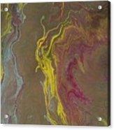 Acrylic Pour 2855 Acrylic Print