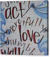 Act Love Walk Acrylic Print