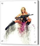 Action Girl Acrylic Print