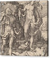 Adam And Eve Lamenting The Death Of Abel Acrylic Print