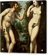 Adam And Eve Acrylic Print