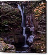 Adams Falls Pa Autumn Acrylic Print