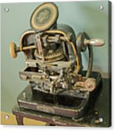 Addressograph Hand Graphotype Acrylic Print