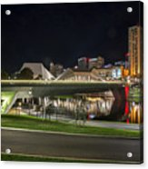 Adelaide Riverbank At Night II Acrylic Print