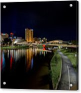 Adelaide Riverbank At Night Iv Acrylic Print