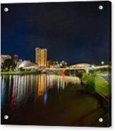 Adelaide Riverbank At Night Vi Acrylic Print