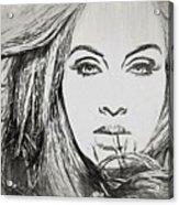 Adele Charcoal Sketch Acrylic Print