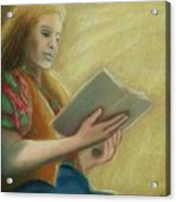 Adele Reading Acrylic Print