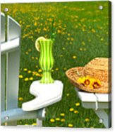 Adirondack Chair On The Grass  Acrylic Print