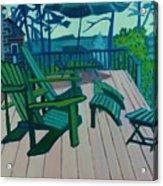 Adirondack Chairs Maine Acrylic Print