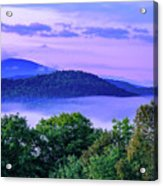 Adirondack Mountains In Fog Acrylic Print