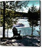 Adirondack Silhouette Acrylic Print