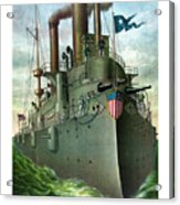 Admiral Dewey's Flagship Olympia  Acrylic Print by War Is Hell Store