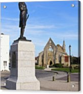 Admiral Lord Nelson And Royal Garrison Church Acrylic Print
