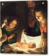 Adoration Of The Baby Acrylic Print